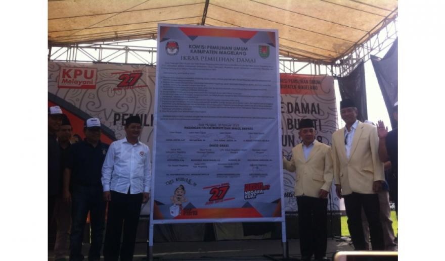 Image : Dua Paslon Deklarasikan Kampanye Damai