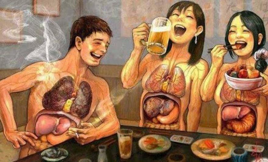 Image : Efek Mengerikan yang Terjadi Jika Setelah Makan Langsung Merokok