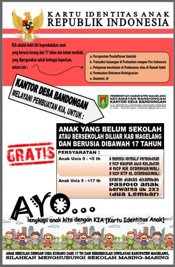 Image : Kartu Identitas Anak [KTP Anak]